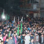 الآلاف يخرجون اليوم بمسيرات حاشدة في #غزة إحتجاجاً على قرار #مصر الجائر باعتبار #حماس حركة إرهابية !! #حماس_مقاومة http://t.co/lSgOBJNmTk