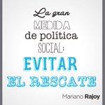 La gran medida de política social: Evitar el rescate #L6Npizarrarallo http://t.co/qU3NXO85Jy