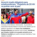 #28FMarchaPorLaPatria .@NicolasMaduro HARA UNA LISTA DE PERSONAS ESTADO UNIDENSES Q NO PODRAN ENTRAR AL PAIS.! http://t.co/UqiNM8EBNL
