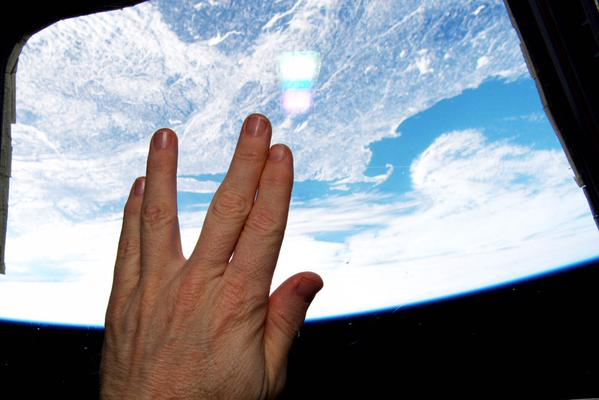 A Salute to Leonard Nimoy From Orbit: Photo http://t.co/YTuz6PDyrc by @Free_Space http://t.co/vz6JNKLUgz
