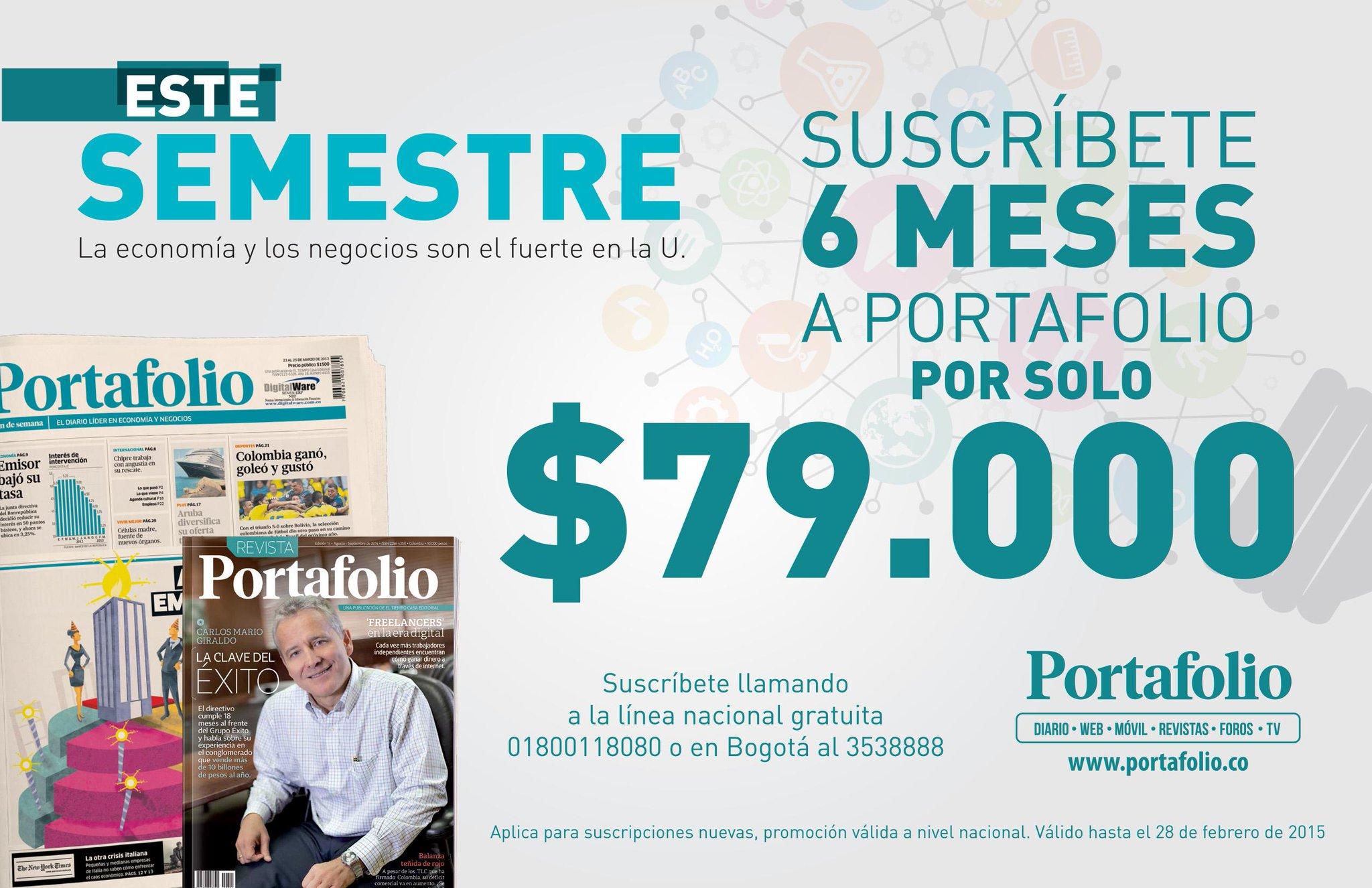 #PromocionesPortafolio Estudiante de pregrado, ahora puede inscribirse a nuestro periódico por un valor muy económico http://t.co/X8lW9qGQc8