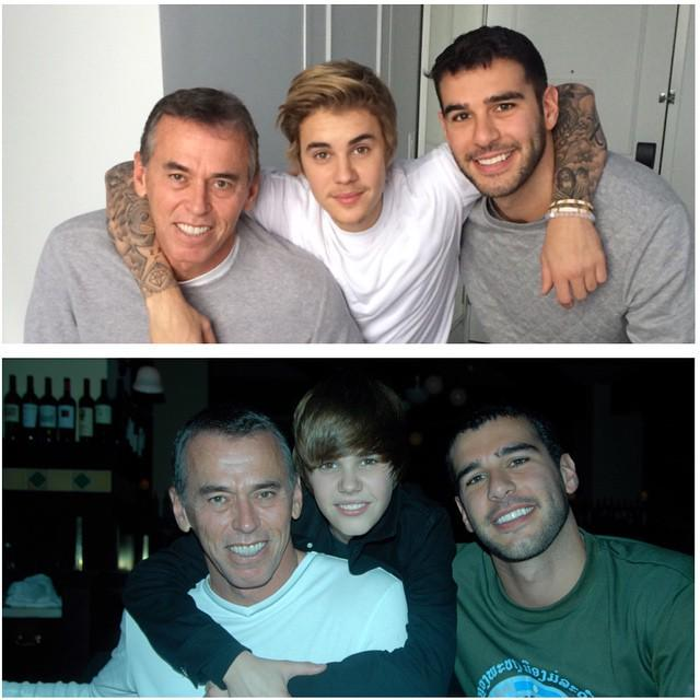 Today vs 2010, with #BigErv and @JustinBieber. We're getting older, but the family love only grows deeper. http://t.co/tjSogb5Umn