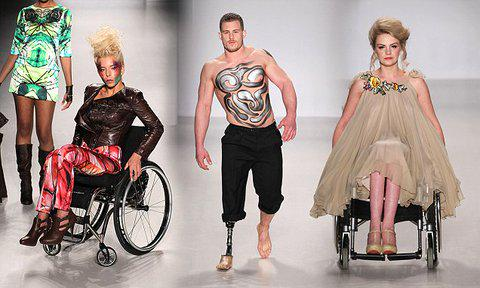 Disabled models take to catwalk in wheelchairs as New York Fashion Week http://t.co/kQVLuE2wjq http://t.co/ydvv8q5tJg
