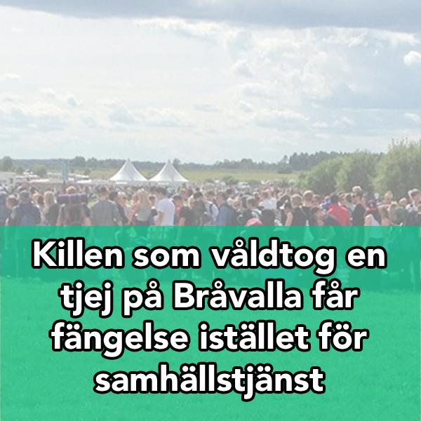 Killen som våldtog en tjej i publiken på Bråvalla får fängelse istället för samhällstjänst: http://t.co/cXWPm3uIAH http://t.co/unNpJ7ufJi