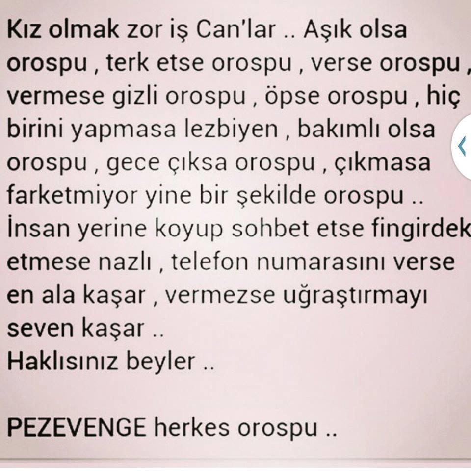 RT @akarmeryem: Hakl?s?n?z beyler; Pezevenge herkes OROSPU ..! http://t.co/7Jpck6OOpc