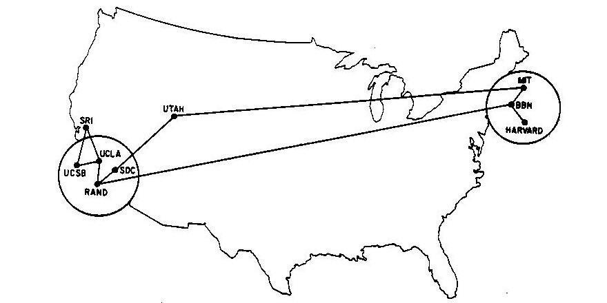 And here is the Internet in 1970 @ValaAfshar @spacearcheology #maps http://t.co/qpQohzgQJS