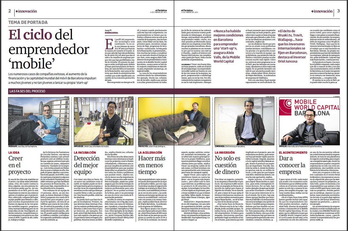 En +Innovación de hoy en @elperiodico Cómo crear una 'start-up' de móviles http://t.co/3aCYxMihsa por @berengueras http://t.co/uUExnccE3W