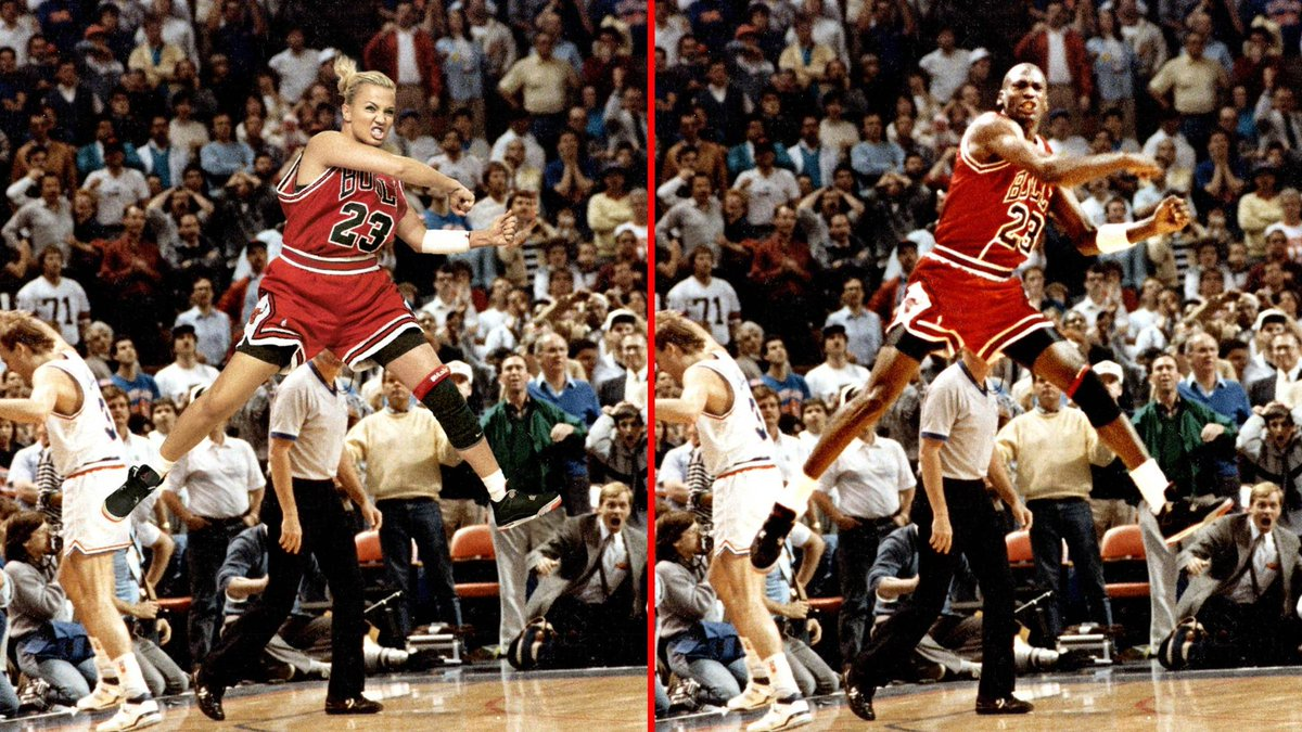 In honor of MJ's bday: that time I made @MichelleDBeadle be like Mike http://t.co/dP2AntZj34 http://t.co/yyy4m8Ws1p