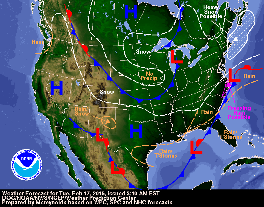 Todays weather as winter storm moves offshore cold weather