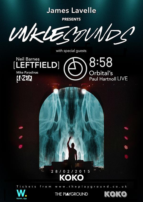 .Neil Barnes @Leftfield joins Paul Hartnoll @orbitalband + µ-Ziq @MikeParadinas @unkleofficial @KOKOLondon 28/02 http://t.co/48xy8sjbz4