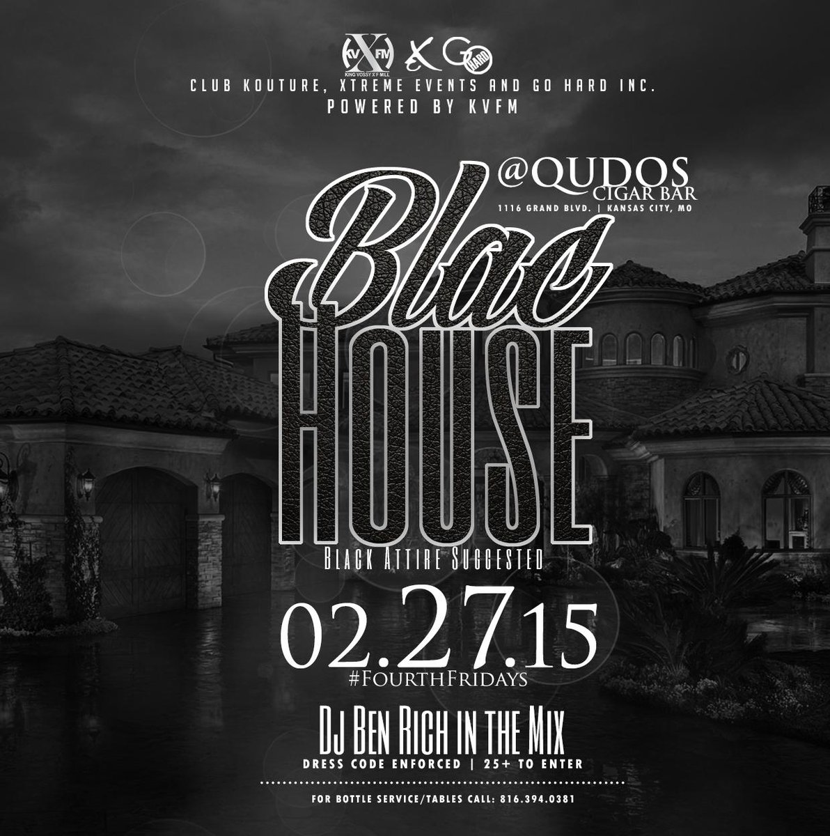 NEXT FRI 2.27 #BlacHouse #EverythingBlac  #4thFriday #25andUp ll Sounds by @BenRichPro http://t.co/e0PRcDTqkw