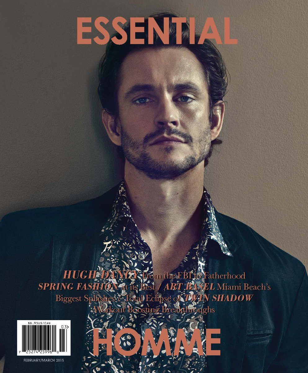 Actor #HughDancy stars on the cover of Essential Homme February/March 2015: http://t.co/CHjWQoYTCX http://t.co/qXsAATXfnt