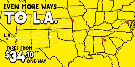 RT @SpiritAirlines: [Incoming Info] Even more ways to Love LA. Fares from $34.10* one-way. Book today +Restr http:…