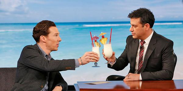 .@JimmyKimmel and Benedict Cumberbatch discuss his 'cumberbun in the oven'