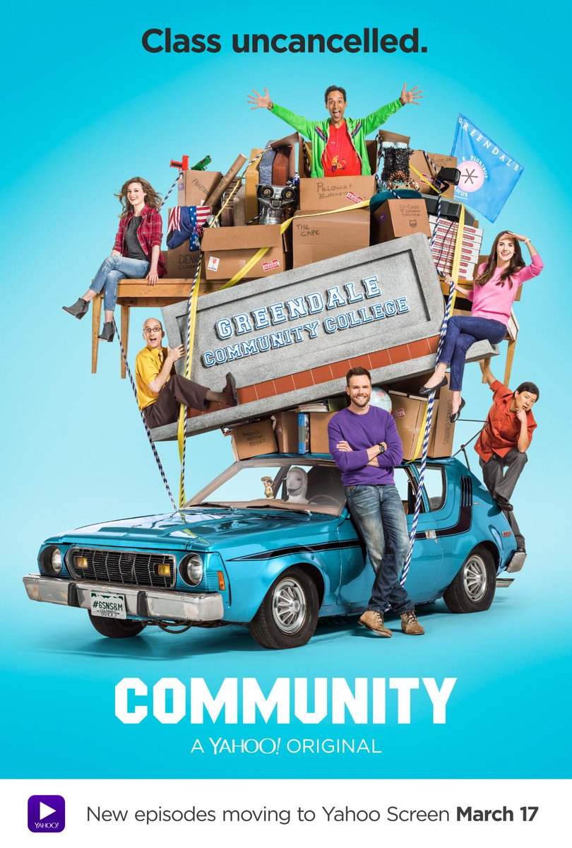 And now, the first poster for Season 6. Class uncancelled. #CommunityLivesOn http://t.co/xYR9e1tojq