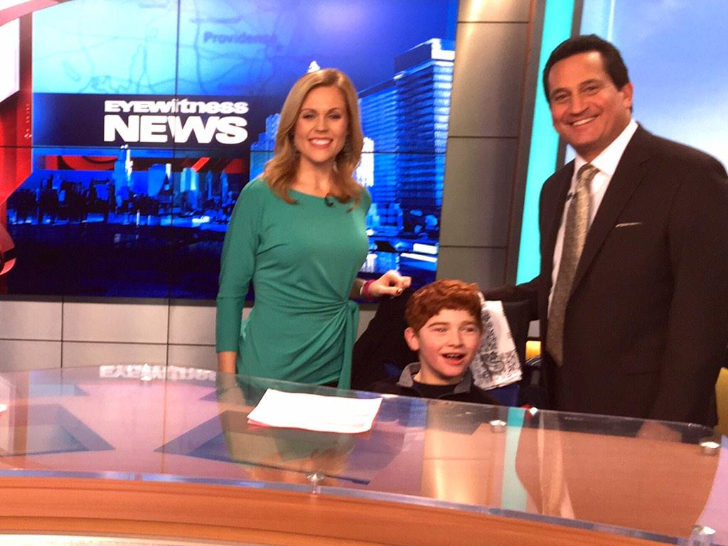 Shannon Hegy (@ShannonHegy): A big happy birthday to our friend Colby from @MeetingStreetRI who came to visit us at @wpri12 ! @mmontecalvotv http://t.co/vzKUMtC21f
