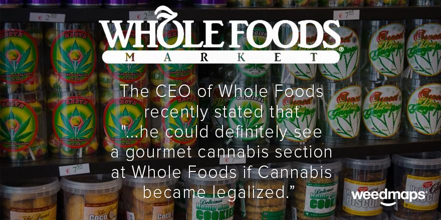The CEO of Whole Foods knows what's up.  #legalizeit #everyonesdoingit #weedfoods #marijuana http://t.co/EGrl2KzEFy