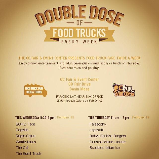 Tomorrow night we back at @ocfair w/@SOHOTACO @dogzillahotdogs @THECUTHCB @TheBurntTruck & @LiegeWaffle 5:30-9:00pm http://t.co/z2PWI0ljL5