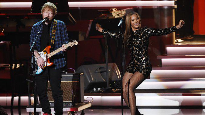 Watch Beyonce and Ed Sheeran Properly Pay Tribute to Stevie Wonder (Video)