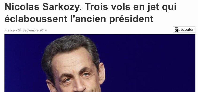 300 000€ pour 3 vols facturés à son ami #Courbit : il disait quoi #Sarkozy de la vérité : ELLE ÉCLATE AU GRAND JOUR http://t.co/0MLHXrlRGc