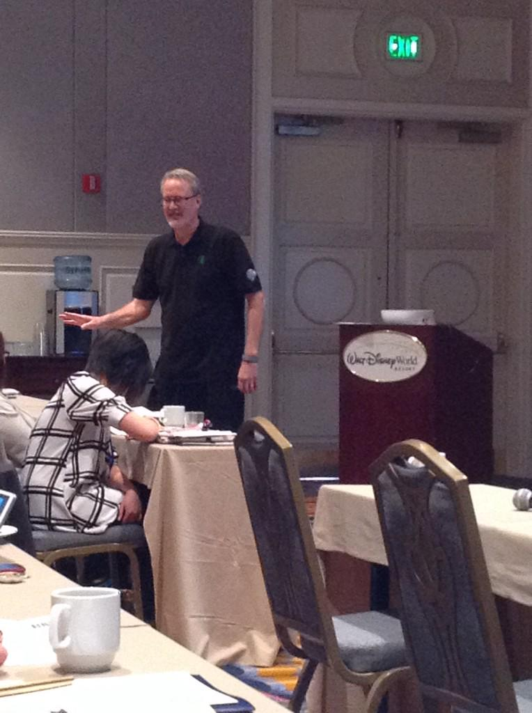 """""""Only people who sit in corners never make mistakes."""" @karlgude #RaganDisney http://t.co/HvgqlmLSjj"""