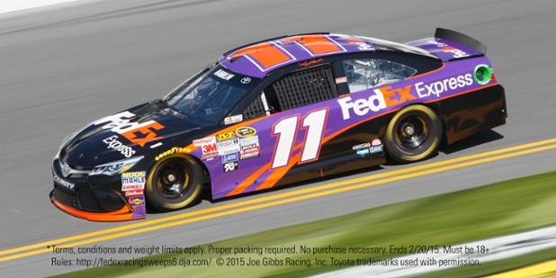 Ready for the #Daytona500? Follow us & RT for a chance to win* a #FedEx11 prize & JGR GC shipped via FedEx #OneRate. http://t.co/x91P5yc1KC
