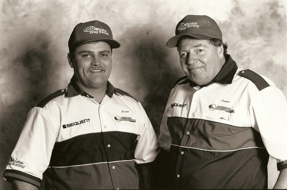 Celebrating the legacy of Connie and Scott today. Today is Scott's birthday. #ConnieTurns77 #nhra #KalittaStrong http://t.co/xBOcumg8JN