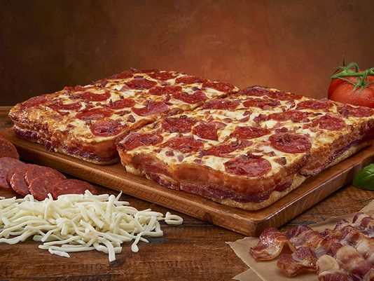Little Caesars introduces Bacon-Wrapped Pizza with 3.5 feet of bacon wrapped around the crust! http://t.co/2xiV8Y8EHW http://t.co/2yl2Cg4zzE