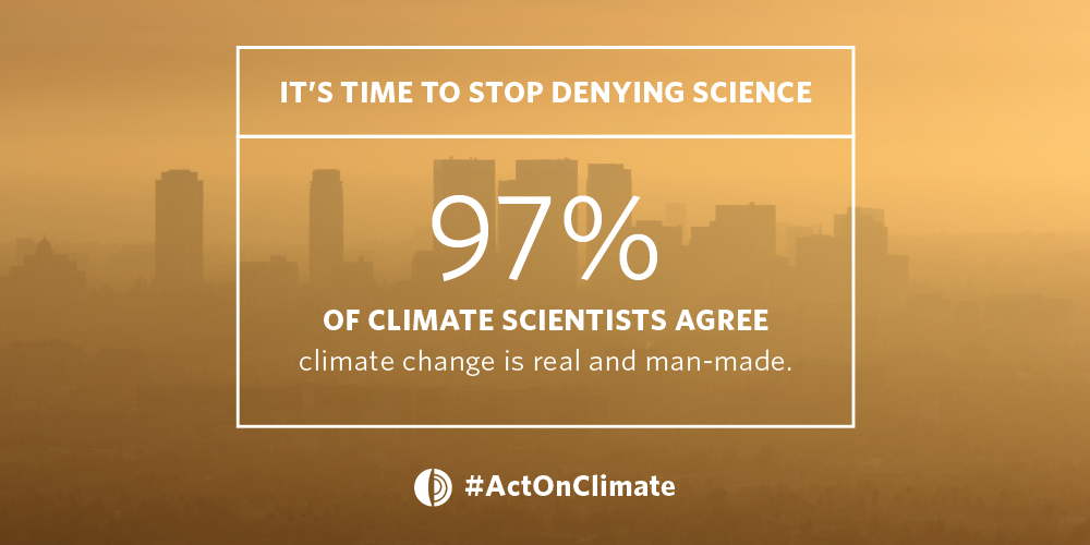 The science on climate change is clear—it's time to call out denial and #ActOnClimate. http://t.co/P4Bp1kQ0s7