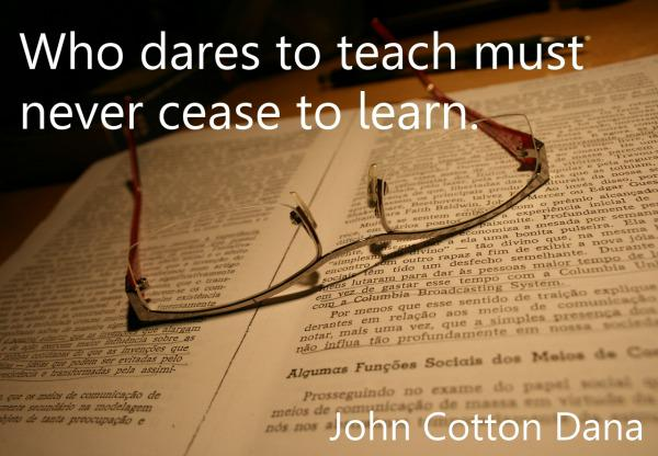 Teaching by example is a powerful tool. Show your students that you are still learning too. #edchat http://t.co/9xLgIRYFkW