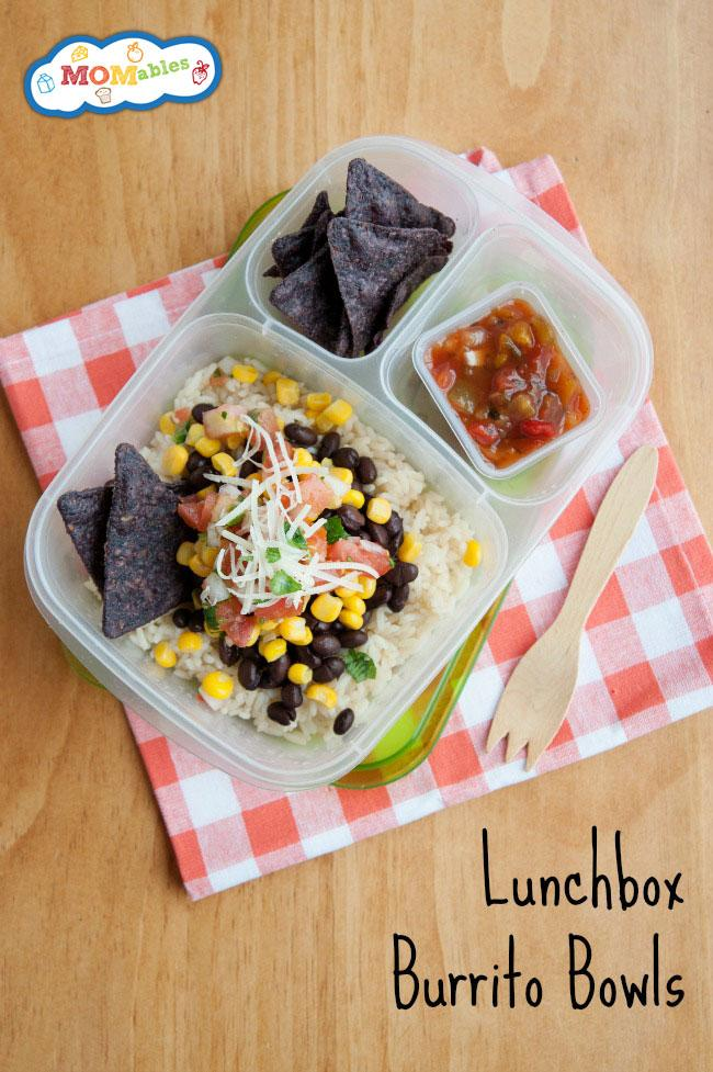 Lunchbox Burrito Bowls. Great for lunch boxes. Video and Recipe via @MOMables http://t.co/HF5mZQJMzj http://t.co/OsuMDoZLBQ