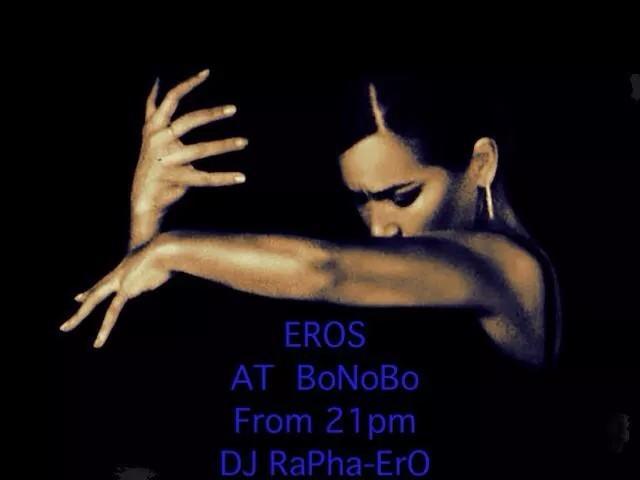 今宵★2.19(木)ボノボ DJ RAPHA-ERO presents ♠♡EROS♤♥ 3か月ぶりに木曜に戻ってきたラファエルによるエロス