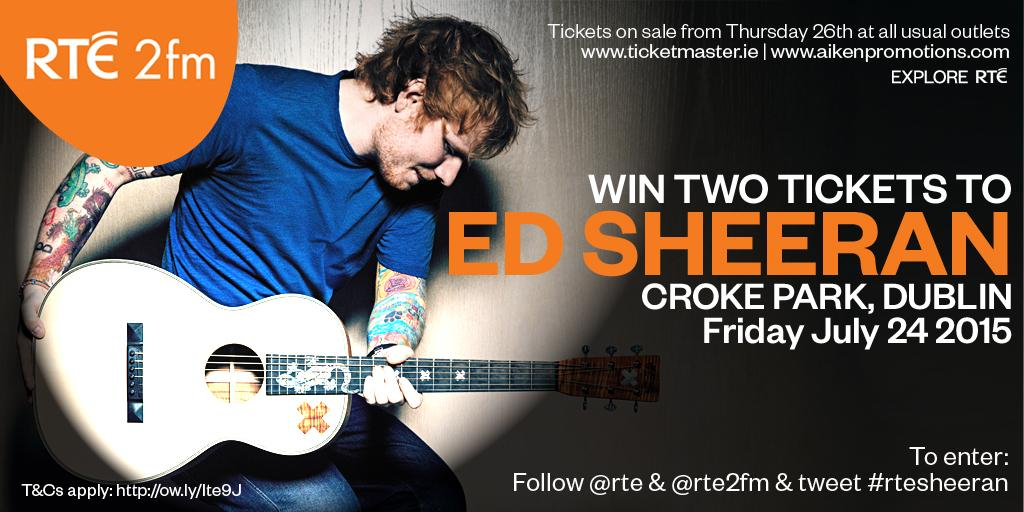 Did you hear the news just now? WIN 2 tix to @edsheeran Croke Park 2015. Just follow @rte & @rte2fm & RT #rtesheeran http://t.co/IrfNKzMHsX