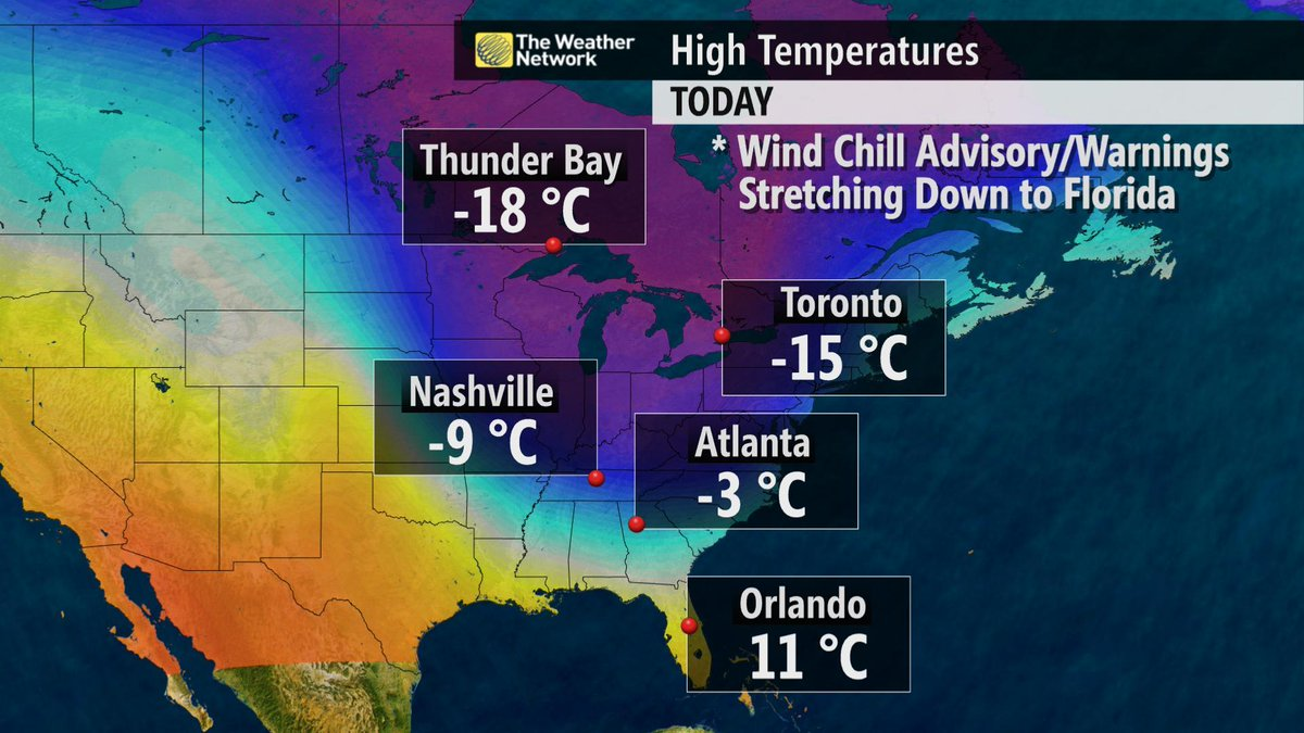 Nicole Karkic (@NicoleKarkic): Go to Florida to escape the cold..not so much. Windchill advisories this morning & well below average.  #ColdSnap http://t.co/2O2bMAKESR