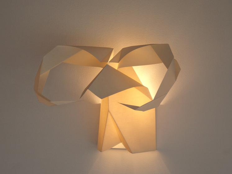 Happy Chinese New Year! In honor of the Year of the Goat, check out this cool origami wall lamp from @disenosistudio: http://t.co/mAiyWXE8E8