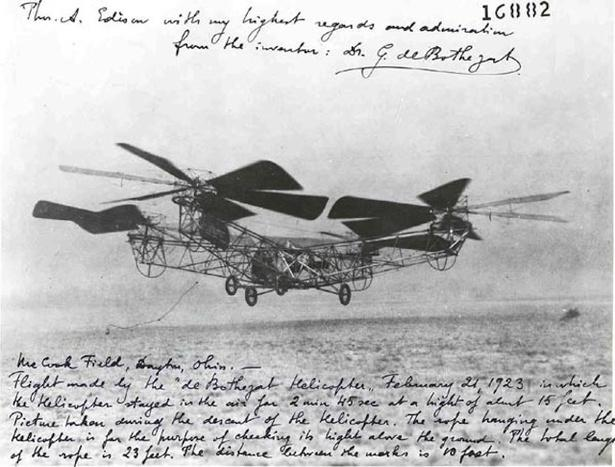 #Today in 1923, George de Bothezat's helicopter flew 15 feet off ground, staying airborne for almost 3 minutes http://t.co/S6W0phZ0Sb
