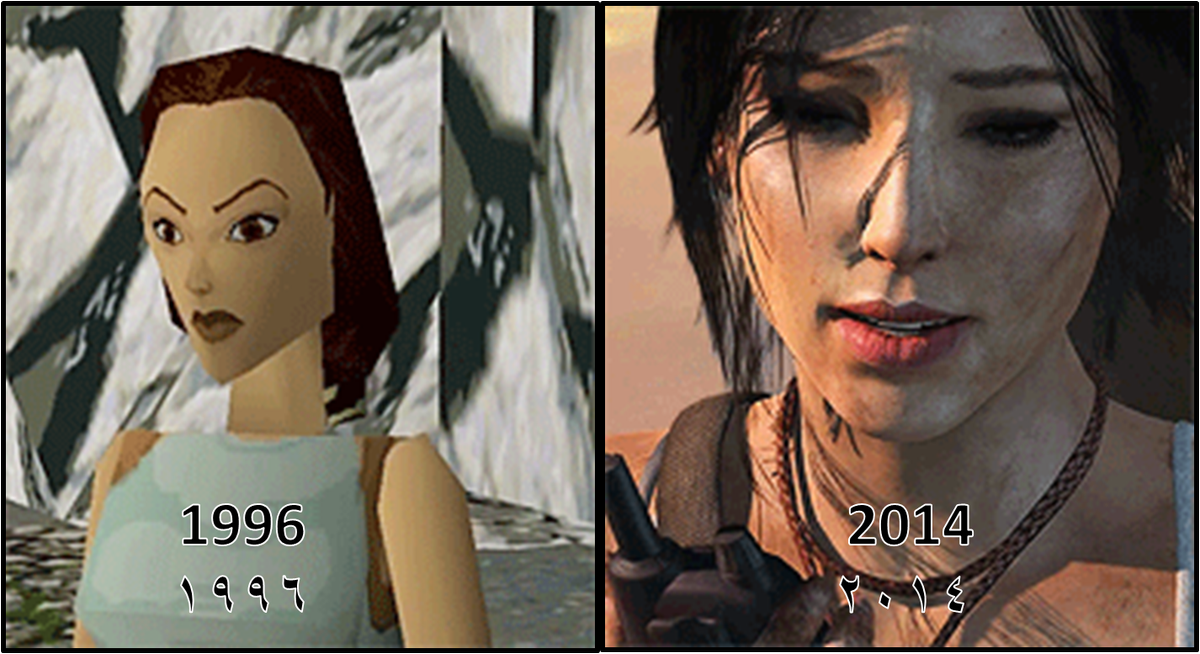 Evolution of #LaraCroft #TombRaider from 1996-2014  تطور شخصية لارا كروفت من 1996-2014  https://t.co/5qBsH070S8 http://t.co/5BAOtPj2T7