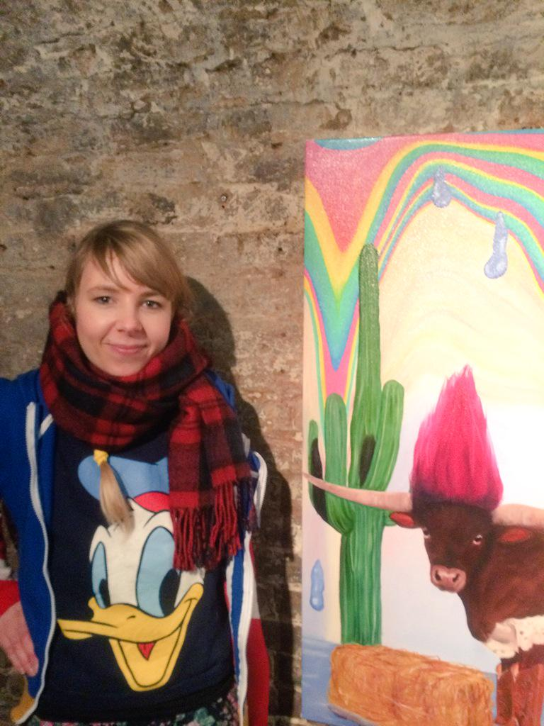 @superfuturekid the #artist herself! @milkcookiesart http://t.co/TQTXxr6AmI