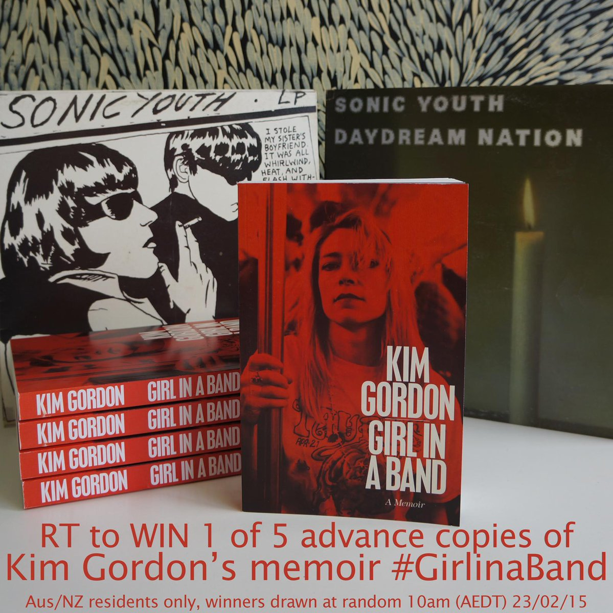 The stunning #GirlinaBand by @KimletGordon is out next month, but we're offering advance copies - just RT to WIN! http://t.co/dzMDazyqde