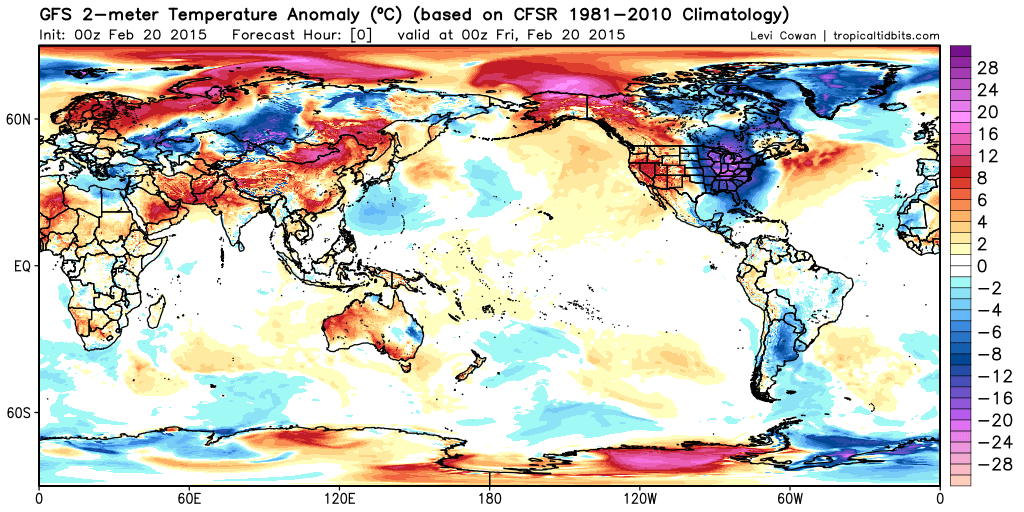 Wow...the eastern U.S. has the most extreme cold of anywhere on Earth right now. http://t.co/P8jVxLtV4k http://t.co/gSYy7nXL9b