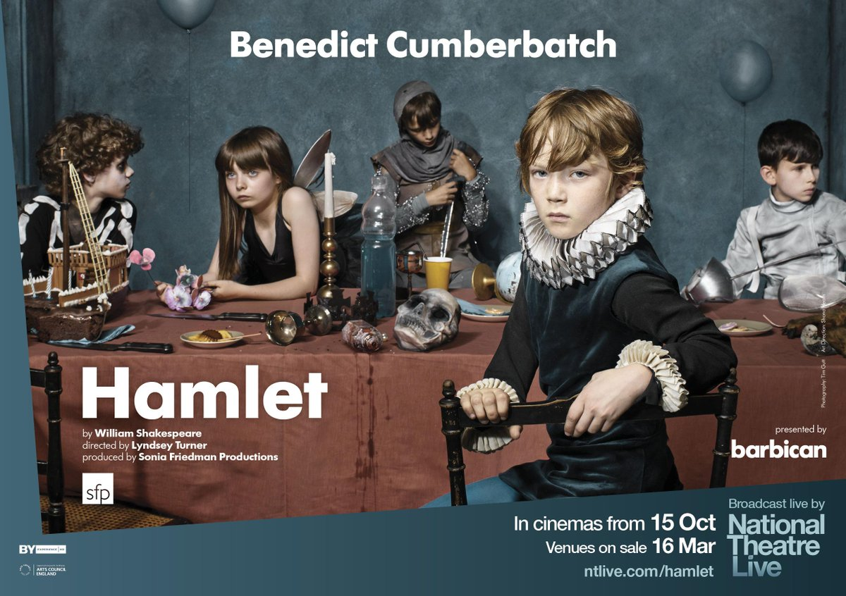 NEWSFLASH: We'll broadcast Benedict Cumberbatch in #hamletbarbican on 15 Oct. On sale 16 Mar! http://t.co/VtIjtX4FLh http://t.co/9nAhHn9bok