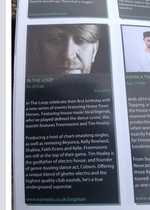 Thank you @bn1magazine for the ace write up for tonight... brighton get ready komedia set time 00:00 http://t.co/Kz8aSOrSan