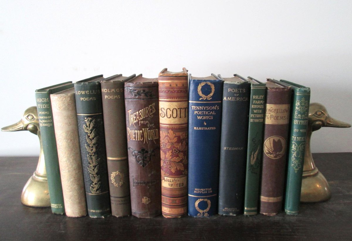 I'm giving away these 11 antique poetry books this week: http://t.co/mJauRv2XAa To enter, reply or RT. http://t.co/YRzYNgdUU0