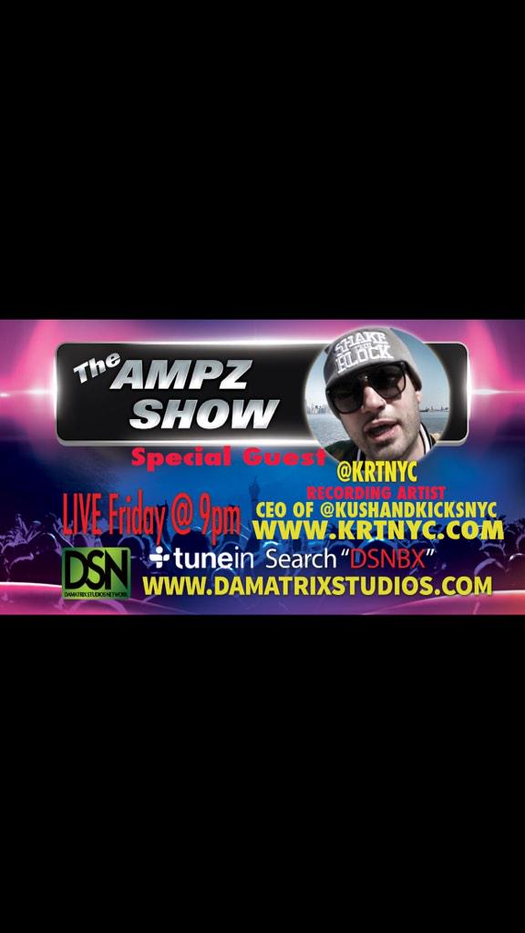 #TheAmpzShow Fridays 9pm Live on that @tunein App !!!... #StatenIsland #Kritikal @KRTNYC #BeAWitness http://t.co/RrzBYTxpoY