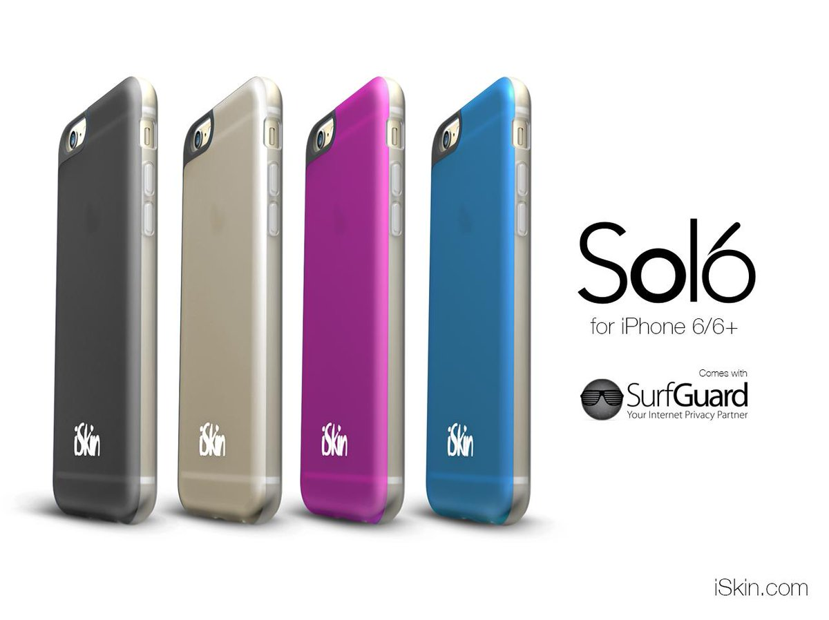 The new #iSkin Solo for #iPhone6 /6+ is here. It not only protects your iPhone but also your privacy! http://t.co/gmS0WeAbd9