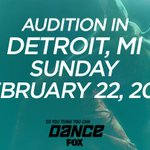 RT @DANCEonFOX: We're braving the cold in Detroit this SUNDAY! Are you auditioning? Get info here: http://t.co/indvWL3tBP
