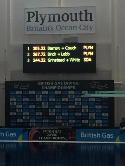 Well done to #Plymouth divers - top 2 places in women's 10m synchro at National Diving Championships @britainsocean http://t.co/5WPofocAnQ