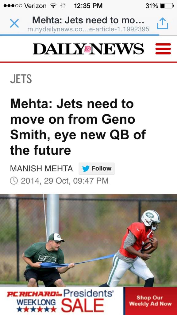 #NFL NYC writer flip flopping on Geno Smith http://t.co/heDXSqGJ7Z