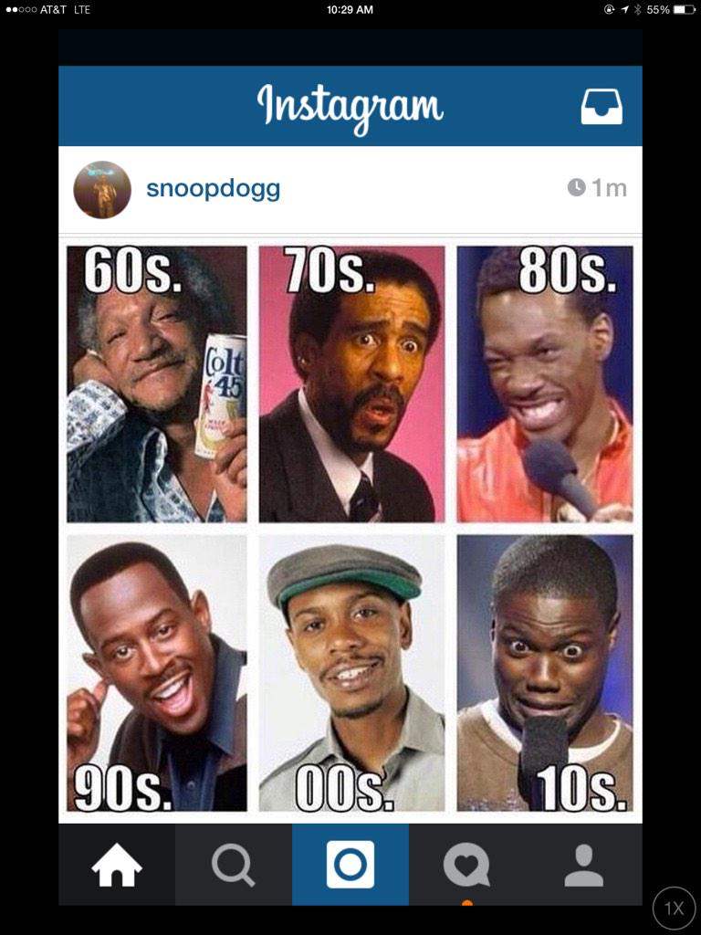 Awesome post on IG, @SnoopDogg #BlackHistory #PioneersInComedy #FunnyAsHell http://t.co/HUxnrsM3d0