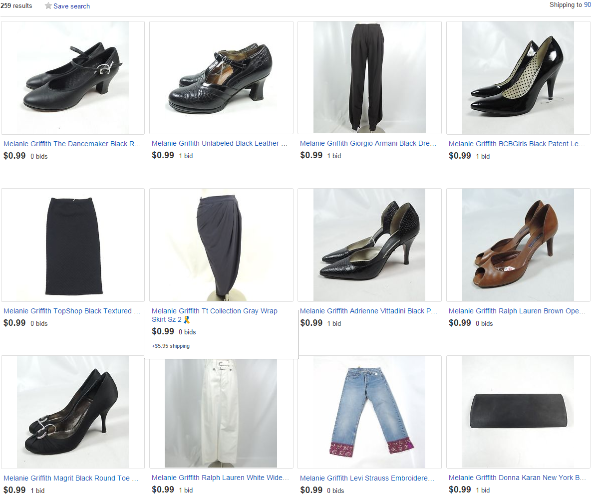 50 luxury fashion & footwear items from @MelanieGriffith under $5, $ to @ChildrensLA w/ @ebay http://t.co/YSsuNMYSQq http://t.co/i7BCzVO7y7